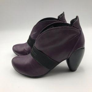JUMP Brash PURPLE LEATHER  Ankle BOOTIES Boots